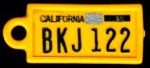 1960 California DAV Tag