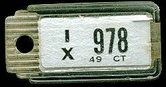 1949 Connecticut DAV Tag