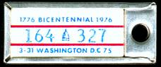 1975 District of Columbia DAV Tag