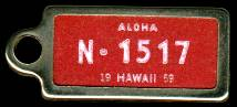 1959 Hawaii DAV Tag