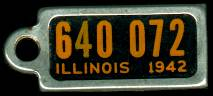 1942 Illinois DAV Tag
