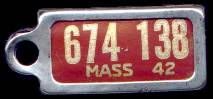 1942 Massachusetts DAV Tag