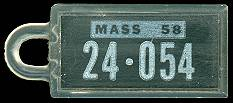 1958 Massachusetts DAV Tag