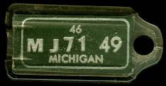 1946 Michigan DAV Tag