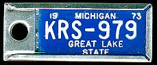 1973 Michigan DAV Tag