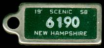 1958 New Hampshire DAV Tag