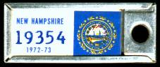 1972 New Hampshire DAV Tag