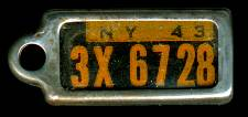 1943 New York DAV Tag