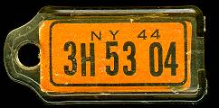 1944 New York DAV Tag