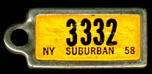 1958 New York DAV Tag