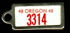 1948 Oregon DAV Tag
