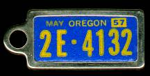 1957 Oregon DAV Tag