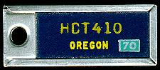 1970 Oregon DAV Tag