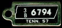 1957 Tennessee DAV Tag