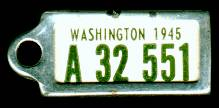 1945 Washington DAV Tag