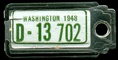 1948 Washington DAV Tag