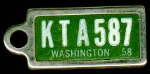 1958 Washington DAV Tag