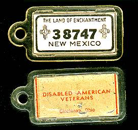 1942 New Mexico DAV Tag